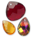 Hand-crafted Glass Pendants - Briolettes