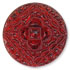 13269 Mosaic Glass Engraved Flat Back Stone Ruby