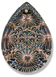 13268 Kaleidoscope Pearshape Engraved Glass Pendant Crystal Tabac