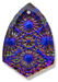 13269 Kaleidoscope Shield Engraved Glass Pendant Crystal Volcano
