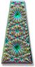 6177 Kaleidoscope Keystone Engraved Glass Pendant Jet Electra
