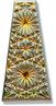 6177 Kaleidoscope Keystone Engraved Glass Pendant Jet Sahara