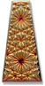 6177 Kaleidoscope Keystone Engraved Glass Pendant Jet Volcano