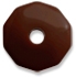 Round Coin Lucite Bead