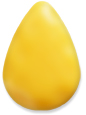 Pear-shape Lucite Bead