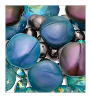 View on shop-site - Barrel shape lucite beads - one size - four mother-of-pearl colors