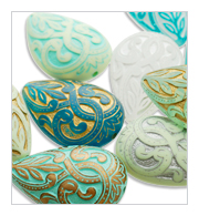 Mediterranean inspired lucite beads for jewelry and accessories