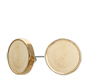 RD136C Round Flatback Setting Earring Gold 13.6mm