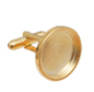 RD18C Round Flatback Setting Cuff-link Gold 18mm