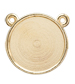 RD225B Round Flatback Setting 2-Ring Top Gold 22.5mm