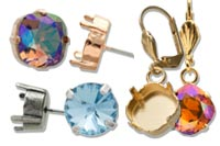 Wholesale empty earring settings for Swarovski crystal stones