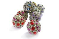 Wholesale Encrusted Filligree Beads made with Swarovski crystal stones
