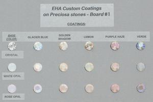 Preciosa EHA Custom Coatings Color Chart