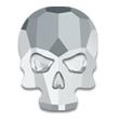 Swarovski Skull 2856 Crystal Light Chrome