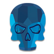 Swarovski Skull 2856 Crystal Metallic Blue