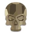 Swarovski Skull 2856 Crystal Metallic Light Gold