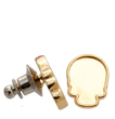 2856R Skull Flatback Setting Tack Pin Gold 10x7.5mm