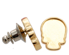 2856R Skull Flatback Setting Tack Pin Gold 14x10.5mm