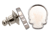 2856R Skull Flatback Setting Tack Pin Imt. Rhodium 18x14mm