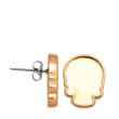 2856R Skull Flatback Setting Post Earring Gold Plated 10x7.5mm