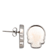 2856R Skull Flatback Setting Post Earring Imt. Rhodium 10x7.5mm