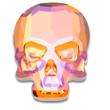 Swarovski Skull 2856 Crystal Summer Blush