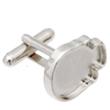 2856RP Skull Flatback Cuff-link Setting Imt. Rhodium 18x14mm