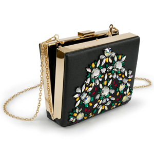 Swarovski Crystal Jewel Cut Flatback clutch